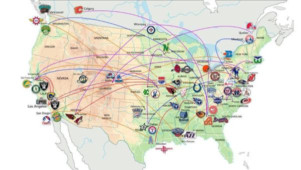 Geography of national sports leagues geographycasestudy us sports teams on the move source workom nd map of us sports teams httpworkommap of us sports teamsml accessed 13th november 2017 gumiabroncs Choice Image